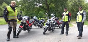motorcycle trip with the english driving school Berlin